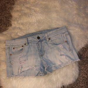 American Eagle size 10 denim short shorts